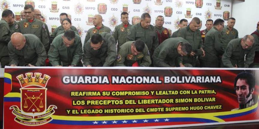 GNB reafirma su lealtad y compromiso con el Presidente Nicolás Maduro Moros