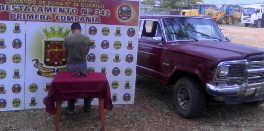 GNB Guárico capturó a ciudadano por porte ilícito de arma de fuego