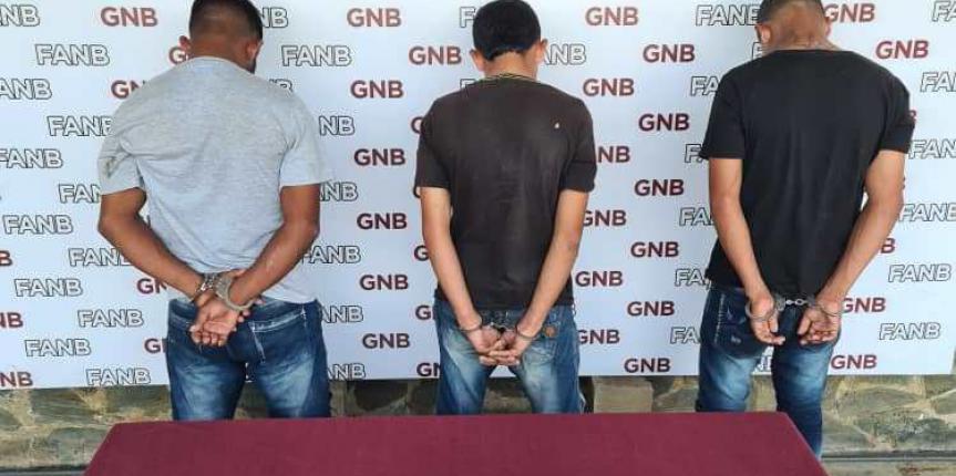 "GNB capturó a tres integrantes del GEDO  ""Los R"" en Tumeremo"