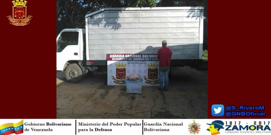 Detenido con 50 kilos de carne en Guárico