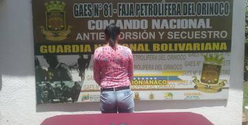 GAES en la Faja Petrolífera captura a ciudadana dedicada a la extorsión en Anzoátegui