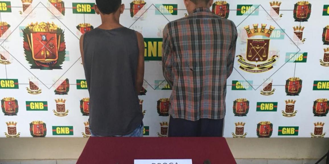 GNB Falcón capturó dos azotes armados y con porciones de drogas en Coro