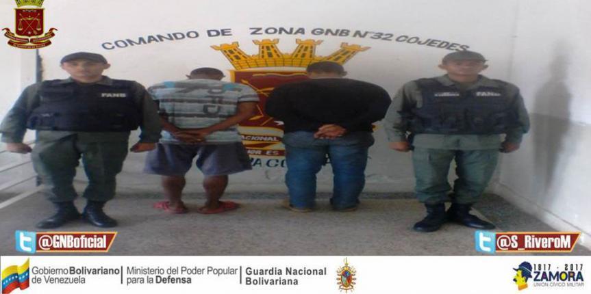 GNB capturó a ciudadano por robo de vehículo auto motor