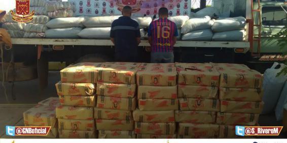 GNB Guárico capturó a dos ciudadanos quienes transportaban un lote de alimentos sin documentación