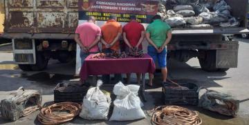 CONAS detuvo a cuatro ciudadanos dedicados al contrabando de material estratégico en Monagas