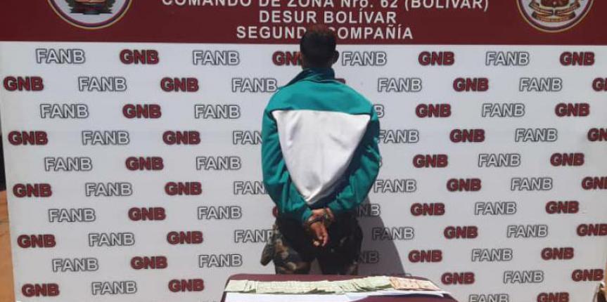 GNB capturó a microtraficante de droga en San Félix