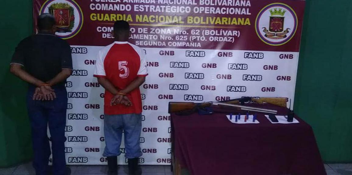 """GNB desmantela Banda """"Los Guaros"""" en el estado Bolívar"""