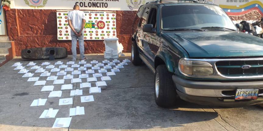 GNB Táchira incautó 60 panelas de marihuana