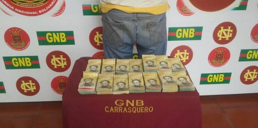 GNB Zulia retiene en 12 horas 475 kilos de material ferroso y 98 millones de bolívares en efectivo