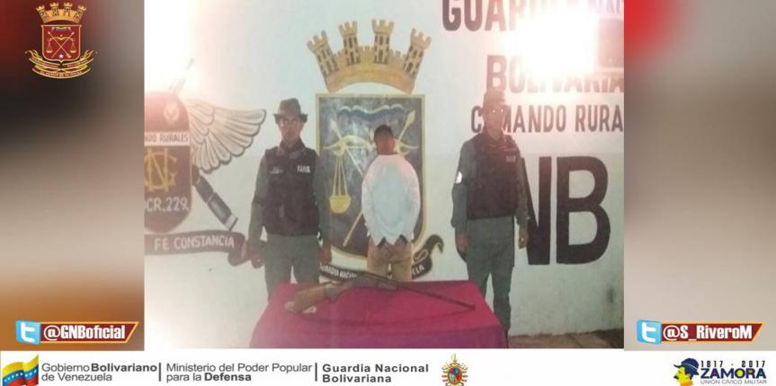 GNB Mérida capturó a ciudadano por porte ilícito de armas de fuego