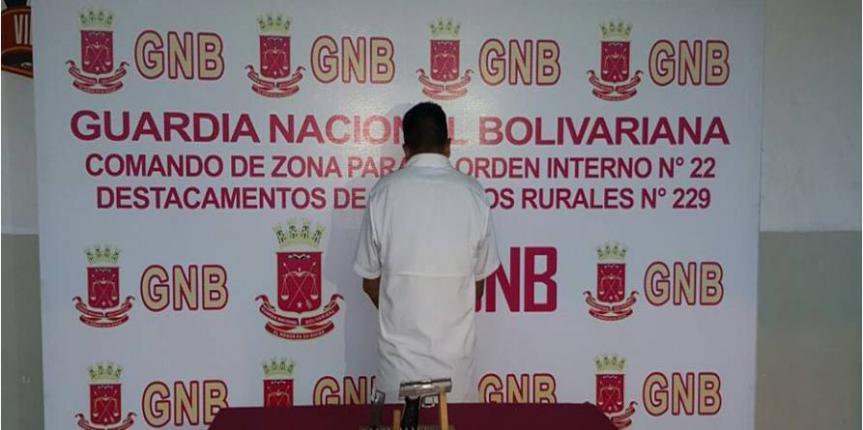 GNB detuvo a ciudadano por porte ilícito de arma de fuego en el estado Mérida