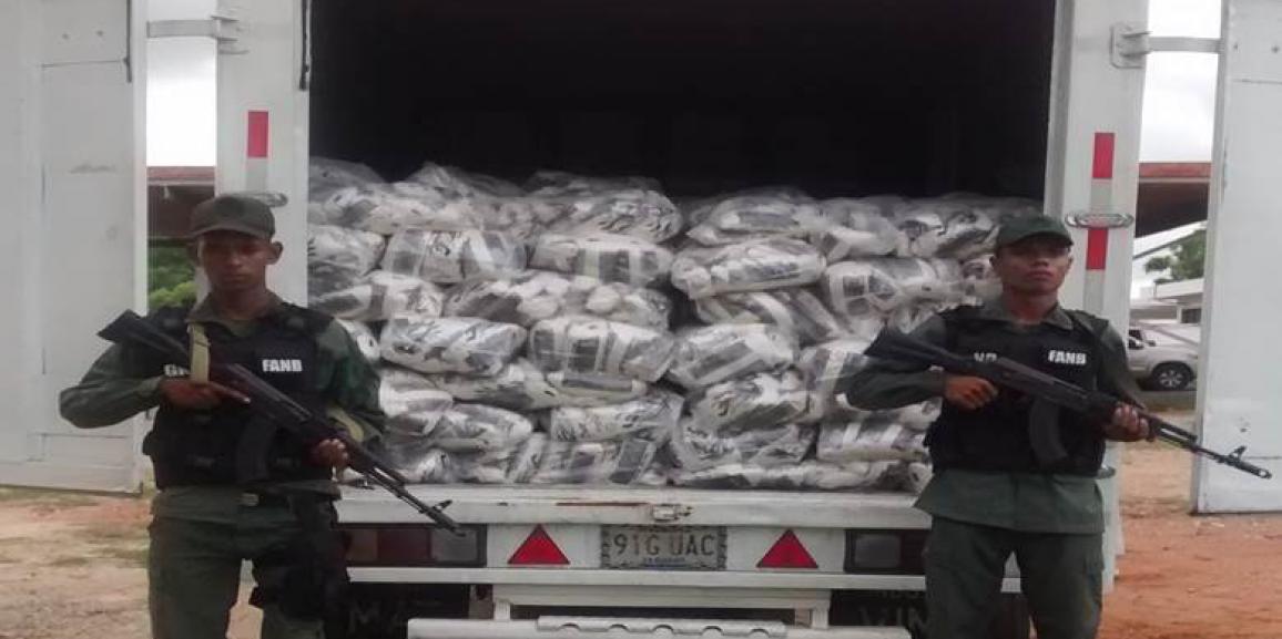 Decomisadas 7 toneladas de harina de maíz y arroz