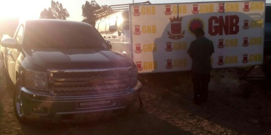 GNB recuperó carro robado y frustró secuestro express en Maracaibo