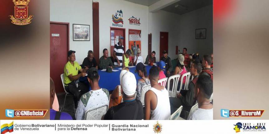 Reunión con los Consejos de pescadores del Estado Miranda