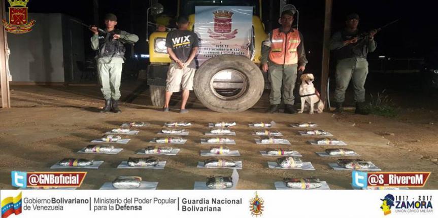 GNB incautó más de 16 kilos de droga en el estado Falcón