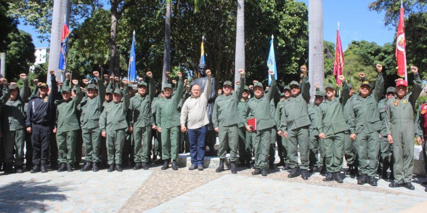 Comandantes de las grandes unidades y comandos de zona de la GNB recibieron al Presidente de la Asamblea Nacional Constituyente