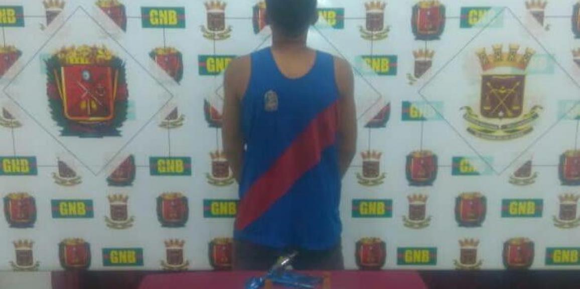 GNB Falcón detuvo a ciudadano por porte ilícito de arma de fuego en Coro