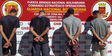 """GNB captura a integrantes de la Banda """"Las Orquídeas"""" en el estado Bolívar"""