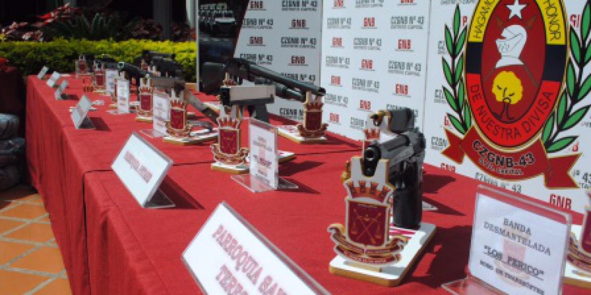 GNB Capital incautó 19 armas durante el fin de semana
