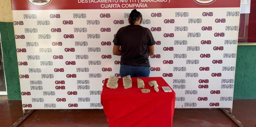 GNB Zulia captura a ciudadana con droga en sus partes íntimas y zapatos