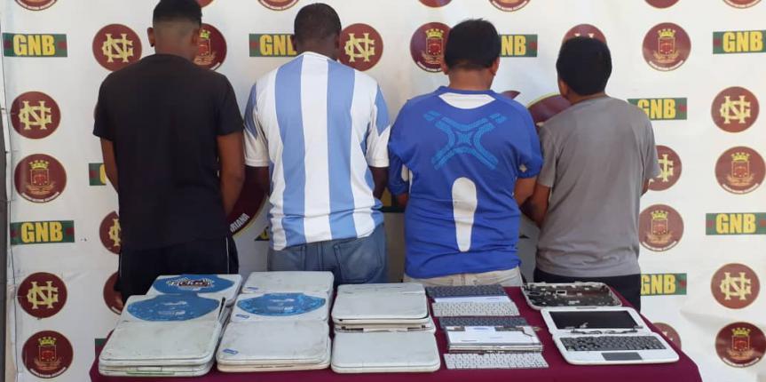 GNB desarticuló banda dedicada a la venta ilegal de equipos de computación en el estado Bolívar