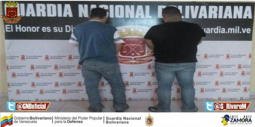 GNB Falcón detuvo a cuatro ciudadanos en diferentes procedimientos