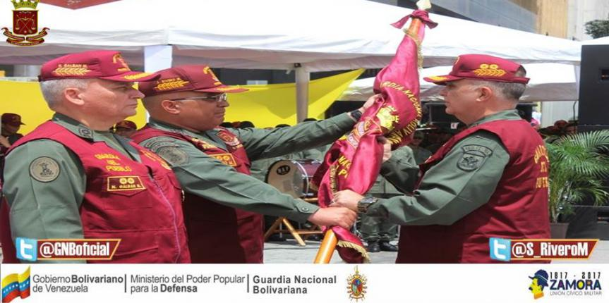 M/G Sergio Rivero Marcano encabezó transmisión de mando de Guardia del Pueblo