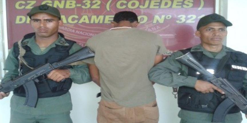 GNB detuvo a prófugo de la justicia en el estado Cojedes