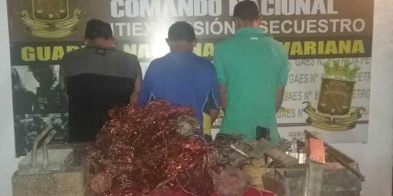 """Gaes 81 detiene a integrantes de la Banda """"Los Cobres"""" en Anaco"""
