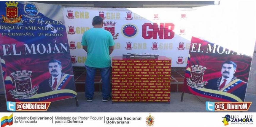 GNB Zulia detuvo a ciudadano con 9 millones de bolívares en efectivo