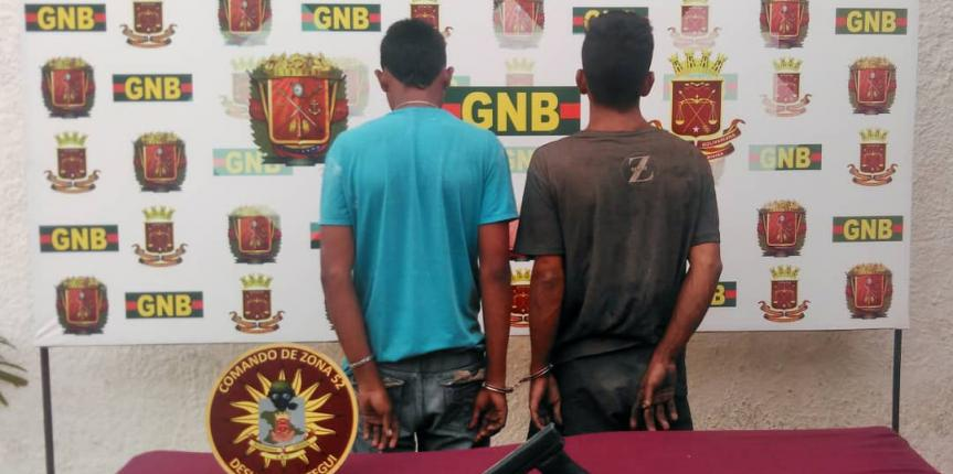 GNB detuvo a cuatro sujetos tras incautar tres armas de fuego