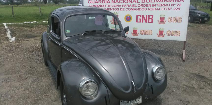 GNB Mérida retuvo vehículo con seriales desbastados