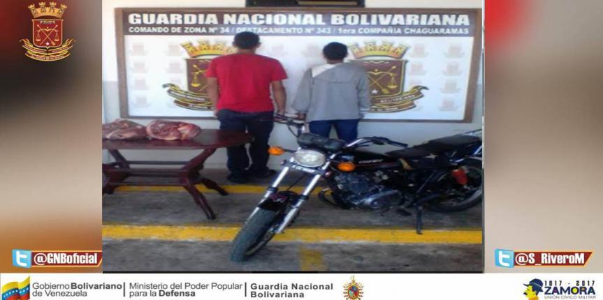 Capturados dos ciudadanos por abigeato en Guárico