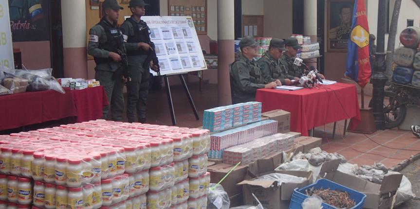 Duro golpe al contrabando dio la GNB en el último trimestre en Táchira