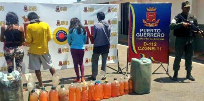 GNB Zulia incautó 216 litros de combustibles y 4.940 unidades de productos de primera necesidad