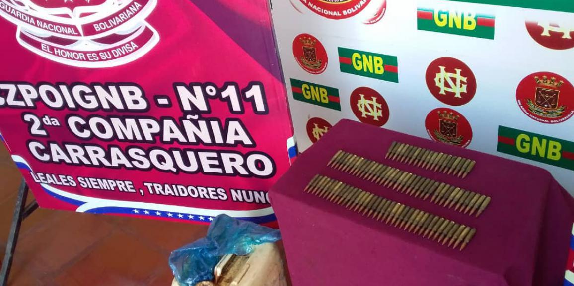 GNB Zulia incautó 90 municiones en el sector El Colorado del municipio Mara