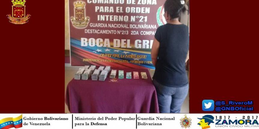 GNB  detiene a cinco mujeres por fuga de cono monetario en el Táchira