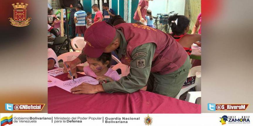 Guardia del Pueblo Delta Amacuro lleva amor y atención a la población de Tucupita
