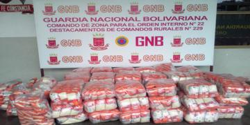 GNB retuvo 60 bultos de arroz por no presentar documentos que amparan el producto