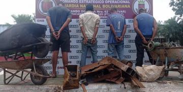 GNB capturó a ocho ciudadanos por tráfico de material estratégico en el estado Bolívar