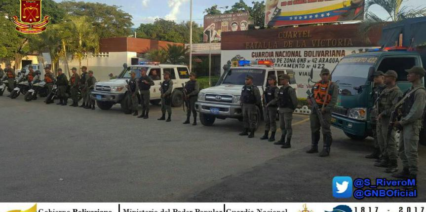 Seguridad y Paz GNB Aragua efectúa despliegue de seguridad en distintos municipios de la entidad