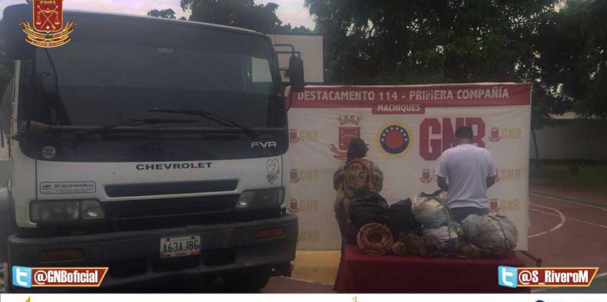 GNB Zulia detuvo a dos ciudadanos  con 140kgs de cobre ocultos debajo de asientos de camión