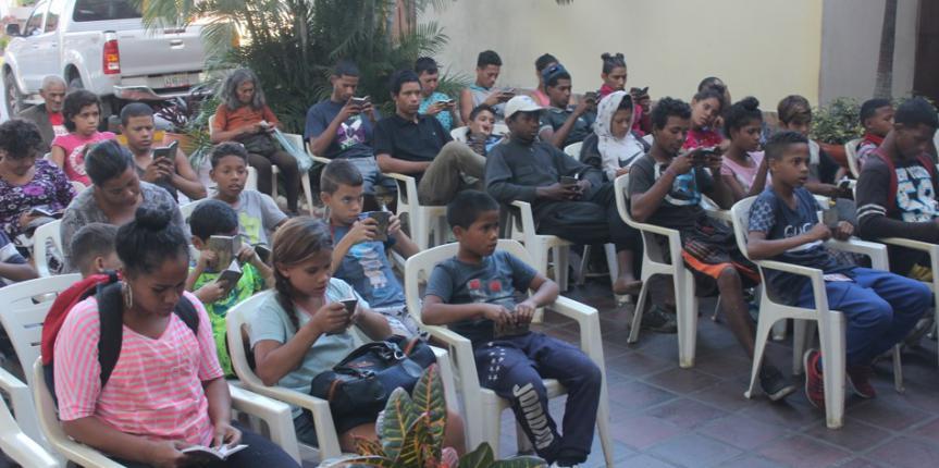 Niños, niñas y Jovenes en situación de calle recibieron un gesto solidario de parte del Cuartel General de la GNB