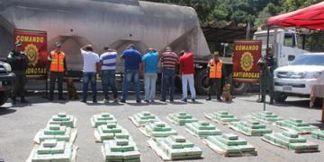Comando Nacional Antidrogas de la GNB incauta 497,500 kgs de presunta cocaína en el Estado Miranda