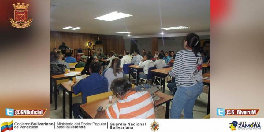 GNB se reunió con sector agroproductivo de Táchira