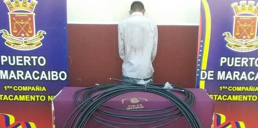 Capturado ciudadano en Maracaibo por robo de cables que afectó las comunicaciones en 5 de Julio y Dr. Portillo
