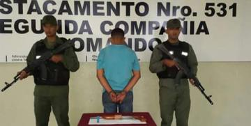 GNB captura delincuente con prontuario portando arma en el estado Sucre