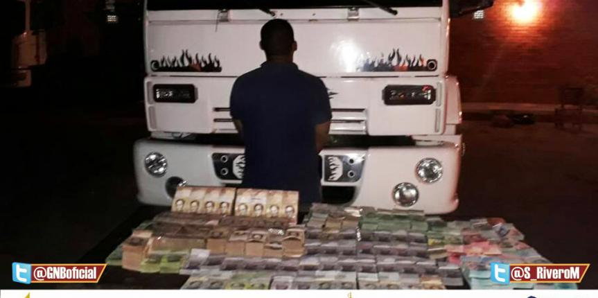 GNB detuvo a un hombre con más de 35 millones en efectivo