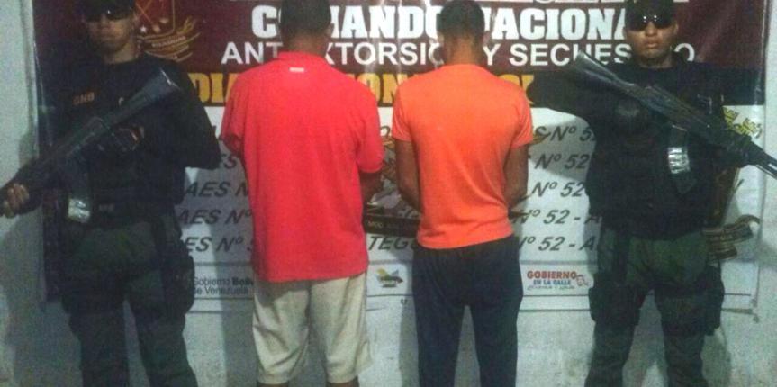 GAES Anzoátegui capturó a tres ciudadanos por extorsión