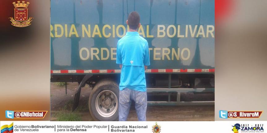 GNB capturó a ciudadano cuando incurría en el delito de violencia de género